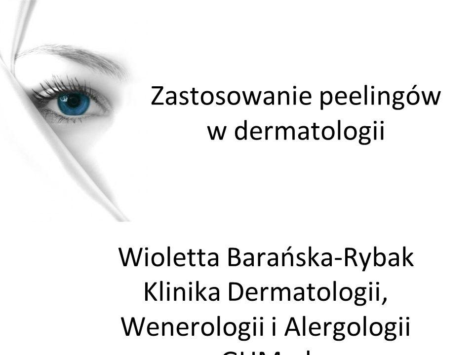 Zastosowanie peelingów w dermatologii