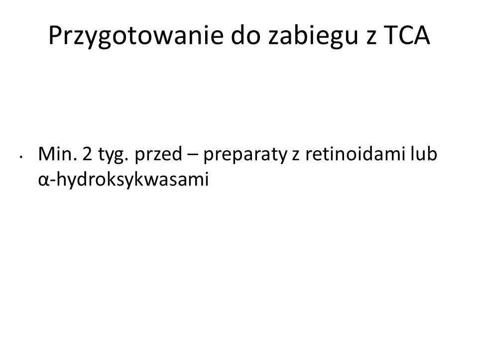 Przygotowanie do zabiegu z TCA