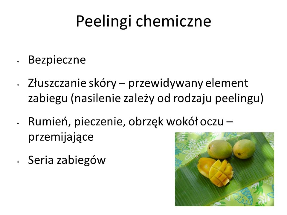 Peelingi chemiczne Bezpieczne