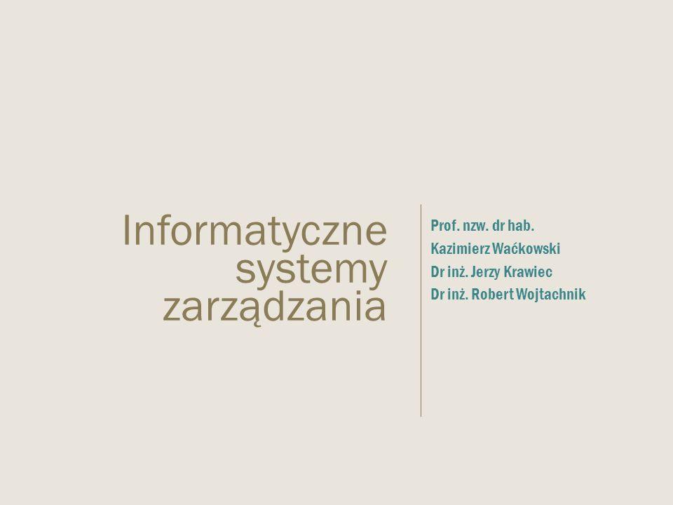 Informatyczne systemy zarządzania
