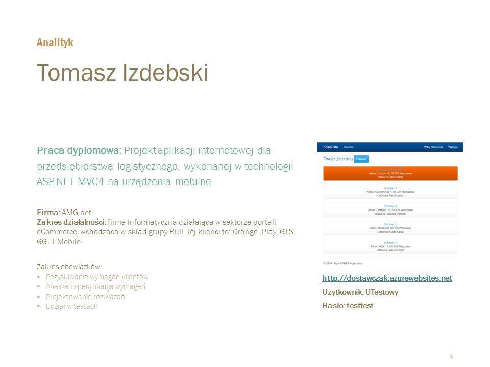 Tomasz Izdebski Analityk