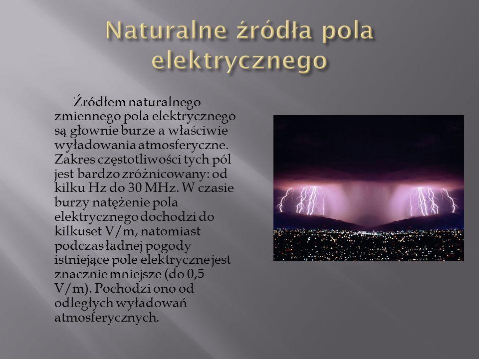 Naturalne źródła pola elektrycznego