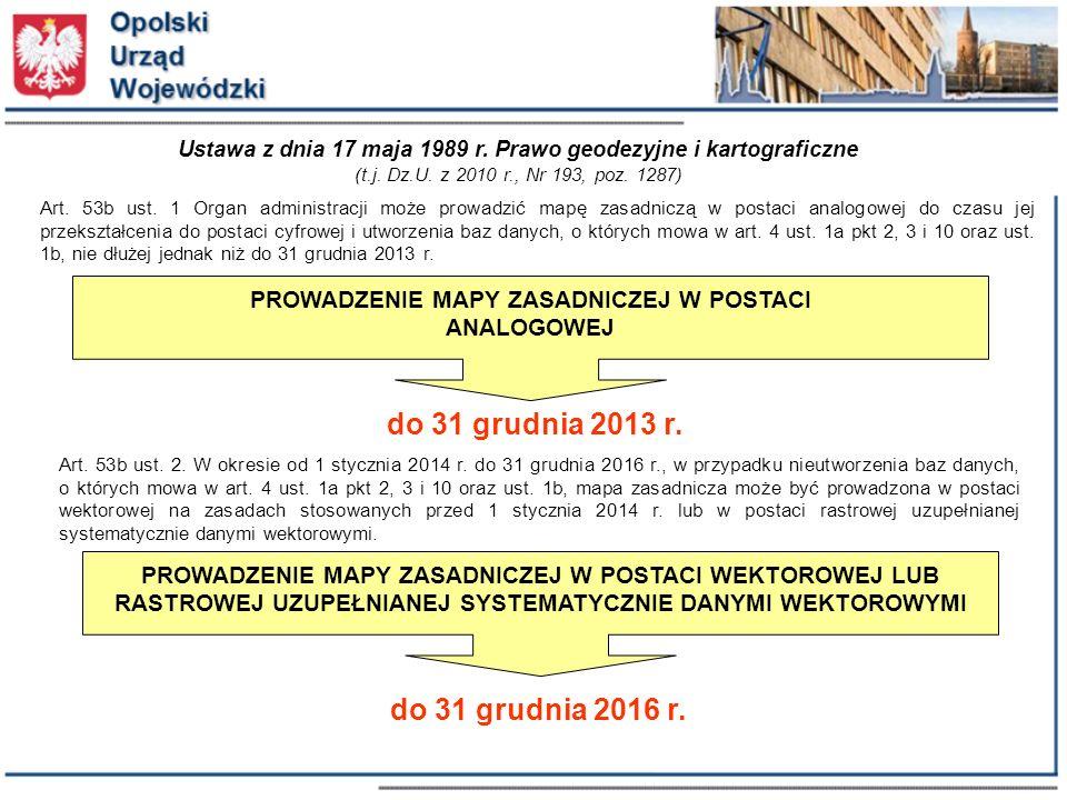 do 31 grudnia 2013 r. do 31 grudnia 2016 r.