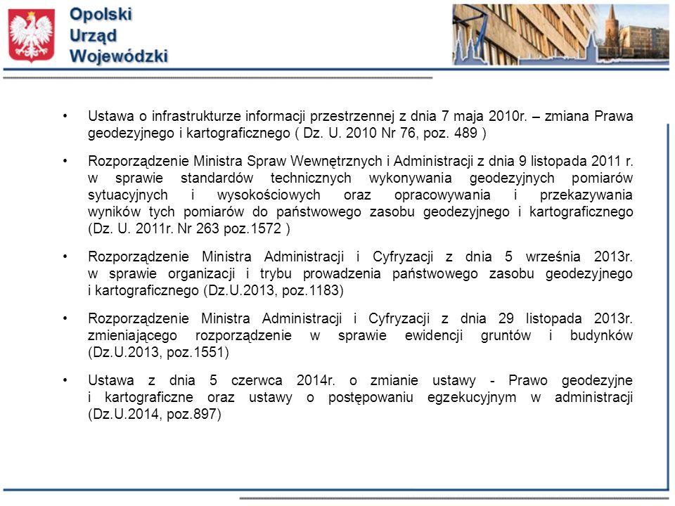 Ustawa o infrastrukturze informacji przestrzennej z dnia 7 maja 2010r