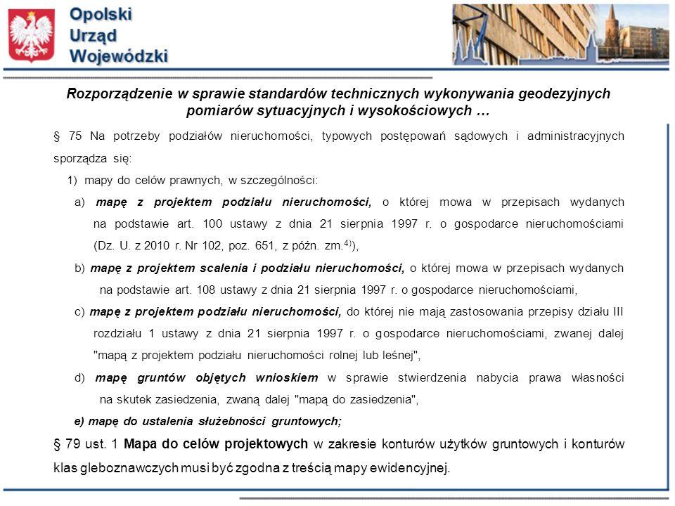 Rozporządzenie w sprawie standardów technicznych wykonywania geodezyjnych pomiarów sytuacyjnych i wysokościowych …