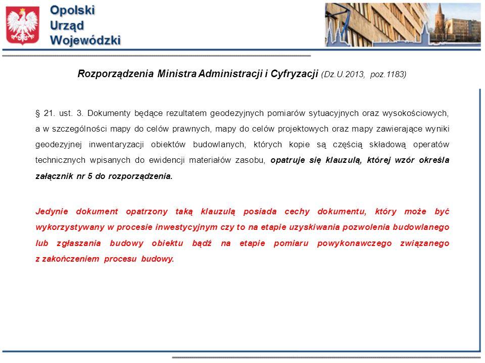 Rozporządzenia Ministra Administracji i Cyfryzacji (Dz. U. 2013, poz