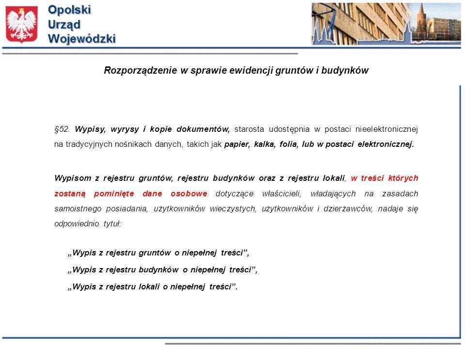 Rozporządzenie w sprawie ewidencji gruntów i budynków