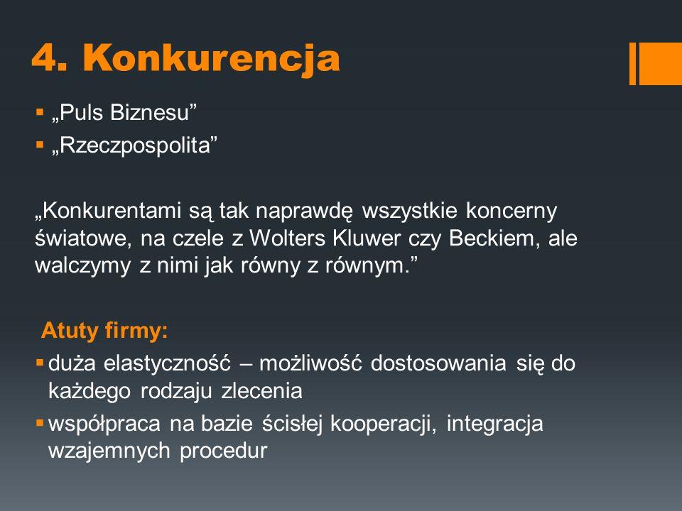 """4. Konkurencja """"Puls Biznesu """"Rzeczpospolita"""