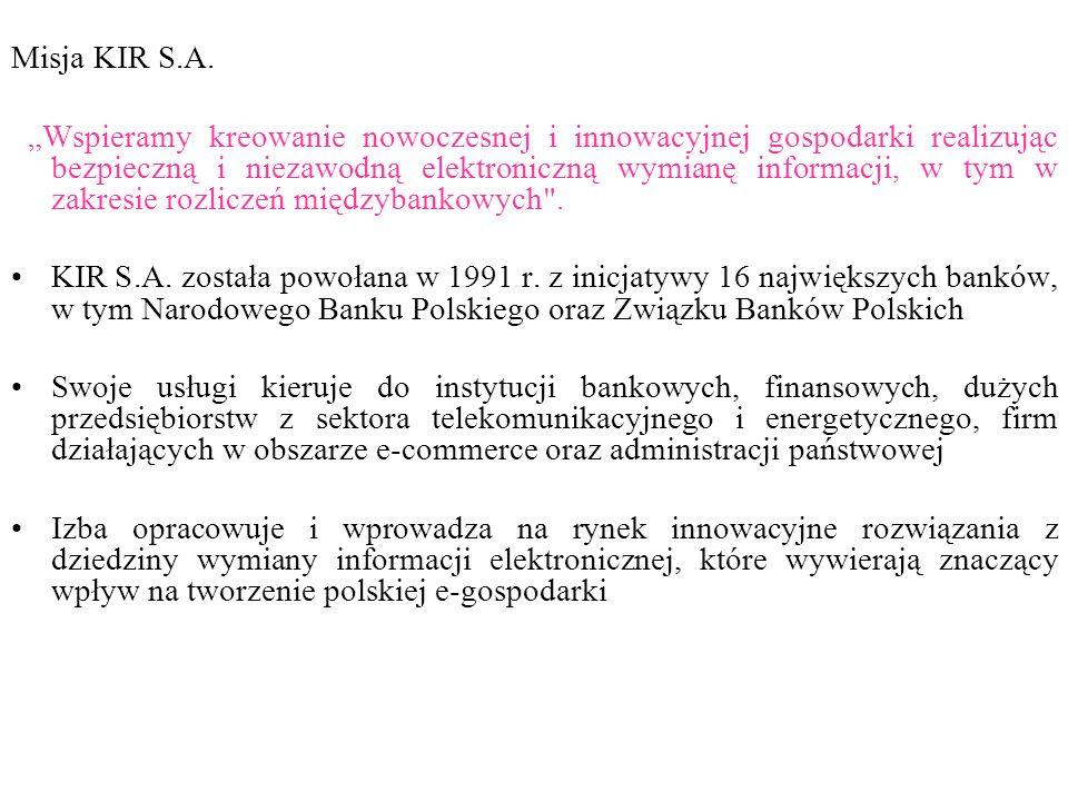 Misja KIR S.A.
