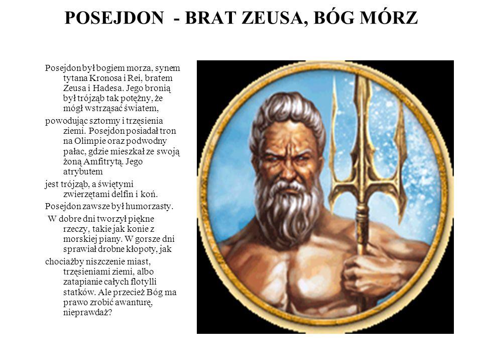 POSEJDON - BRAT ZEUSA, BÓG MÓRZ