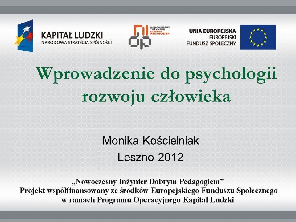 Wprowadzenie do psychologii rozwoju człowieka