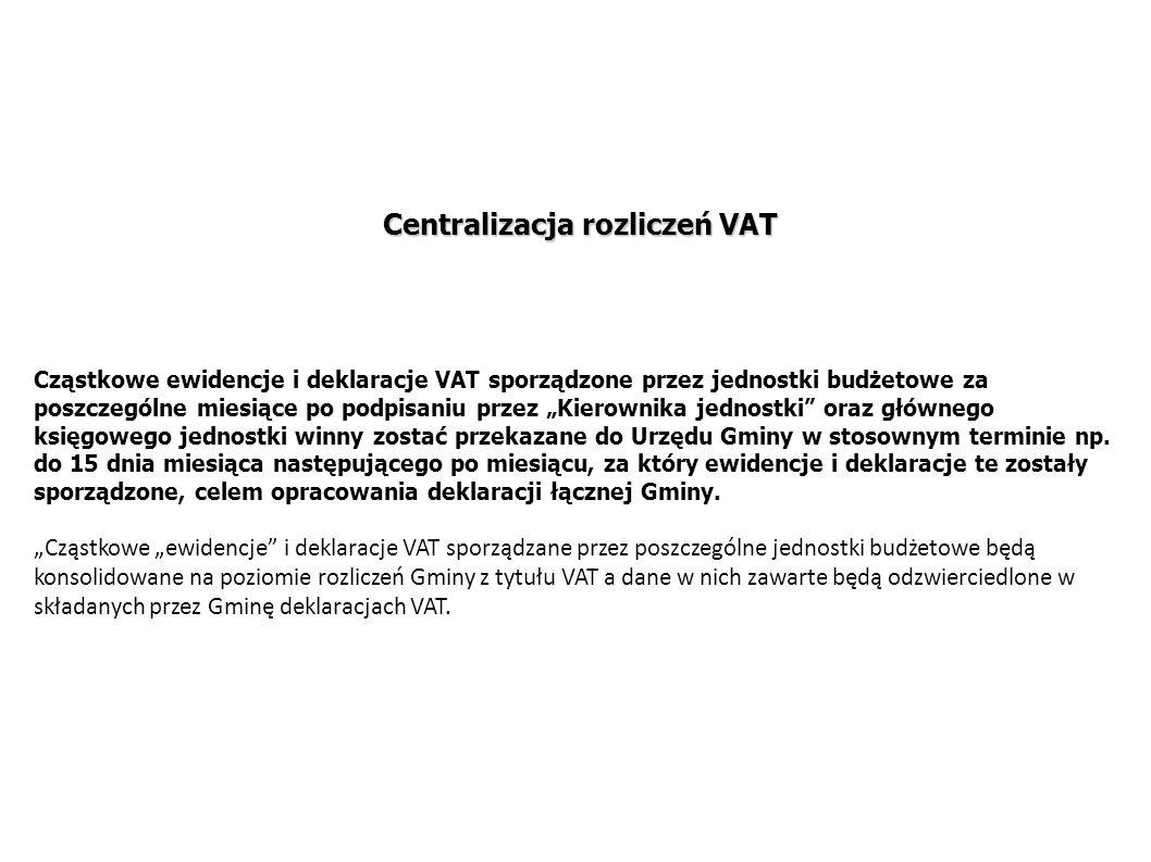Centralizacja rozliczeń VAT