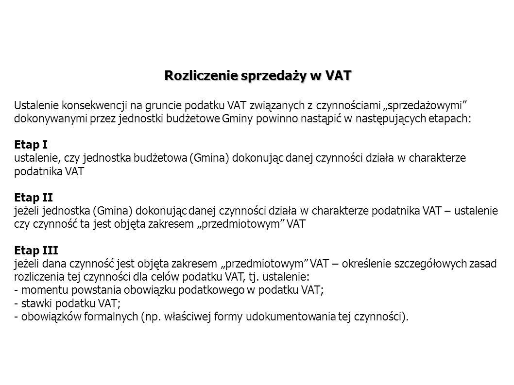 Rozliczenie sprzedaży w VAT