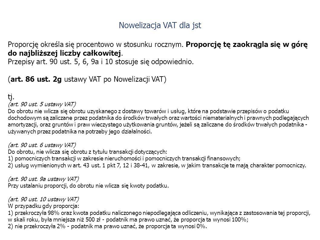 Nowelizacja VAT dla jst