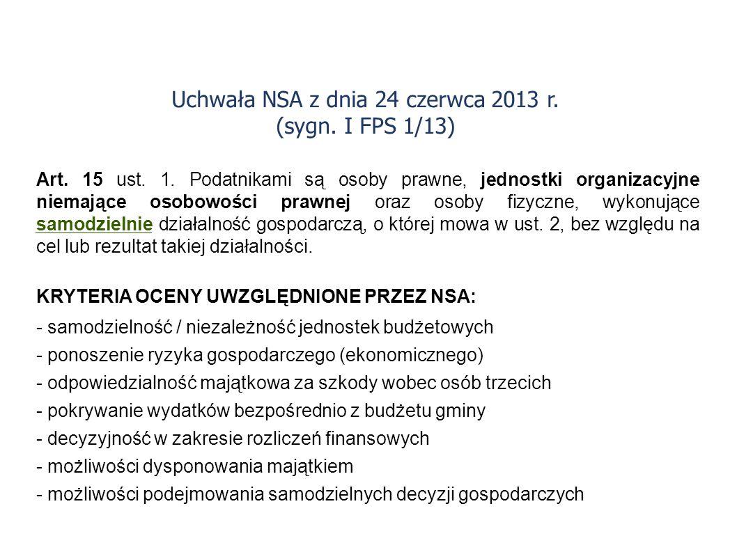Uchwała NSA z dnia 24 czerwca 2013 r. (sygn. I FPS 1/13)