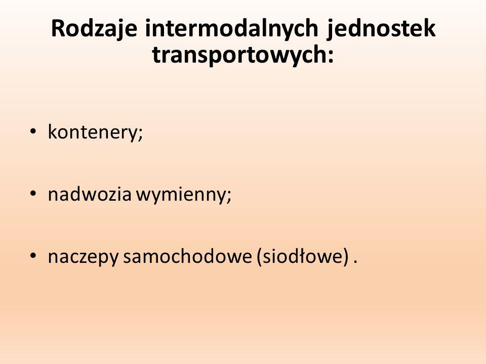 Rodzaje intermodalnych jednostek transportowych: