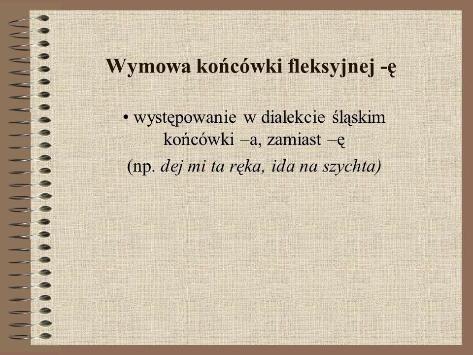Wymowa końcówki fleksyjnej -ę