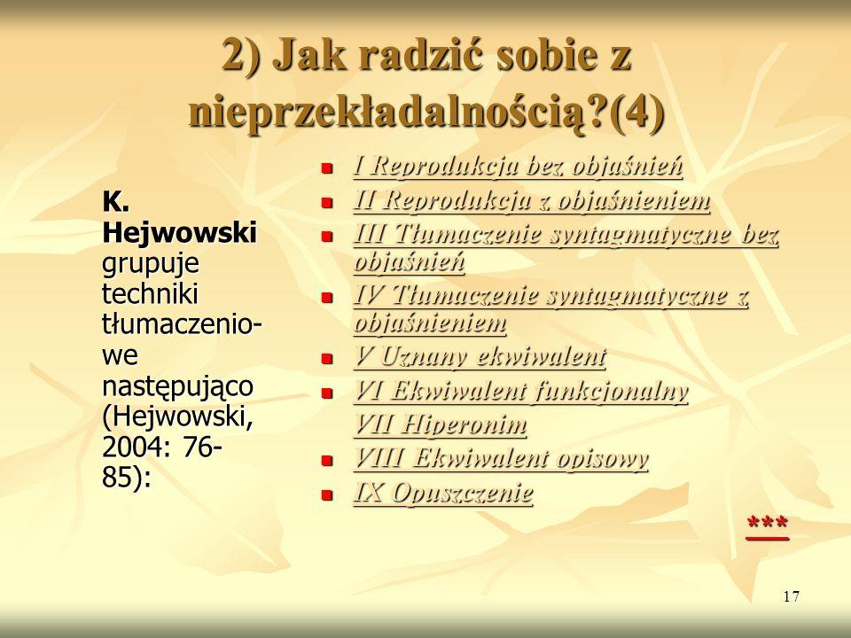 2) Jak radzić sobie z nieprzekładalnością (4)