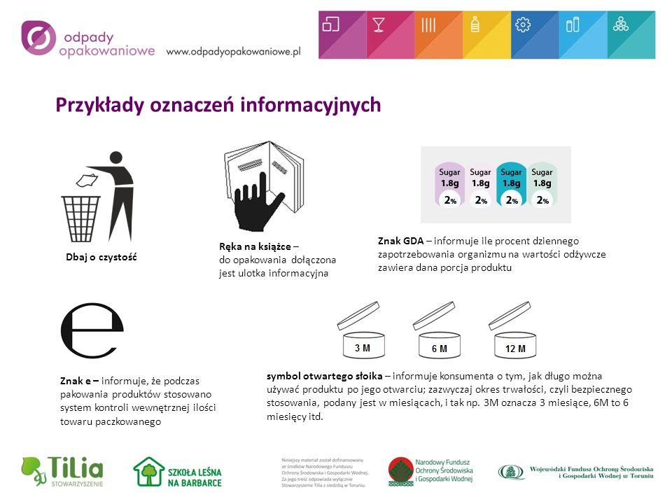 Przykłady oznaczeń informacyjnych