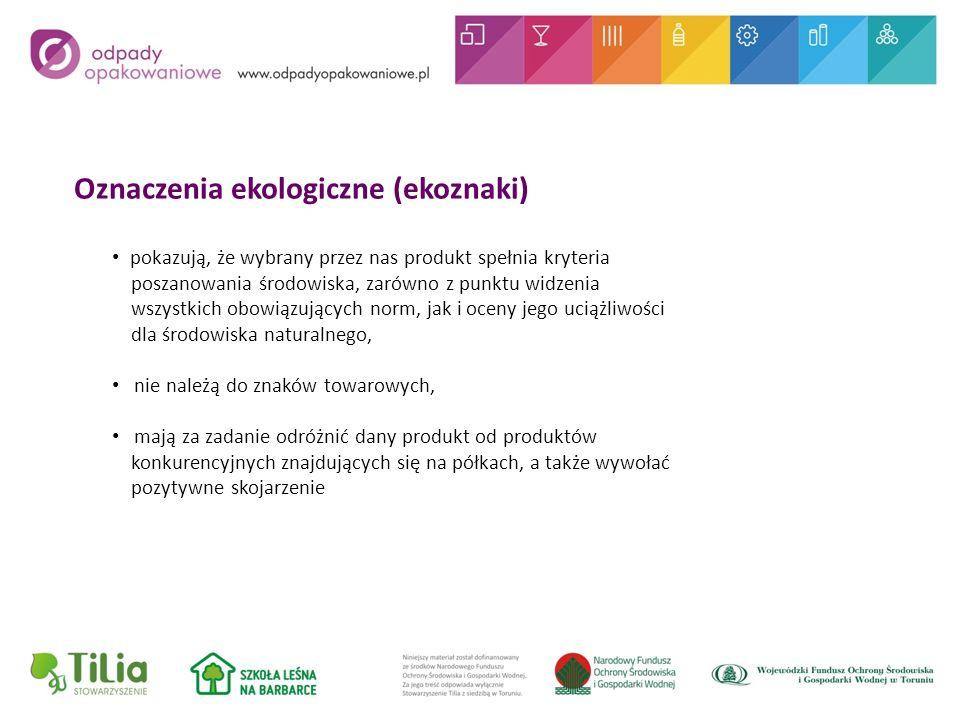 Oznaczenia ekologiczne (ekoznaki)