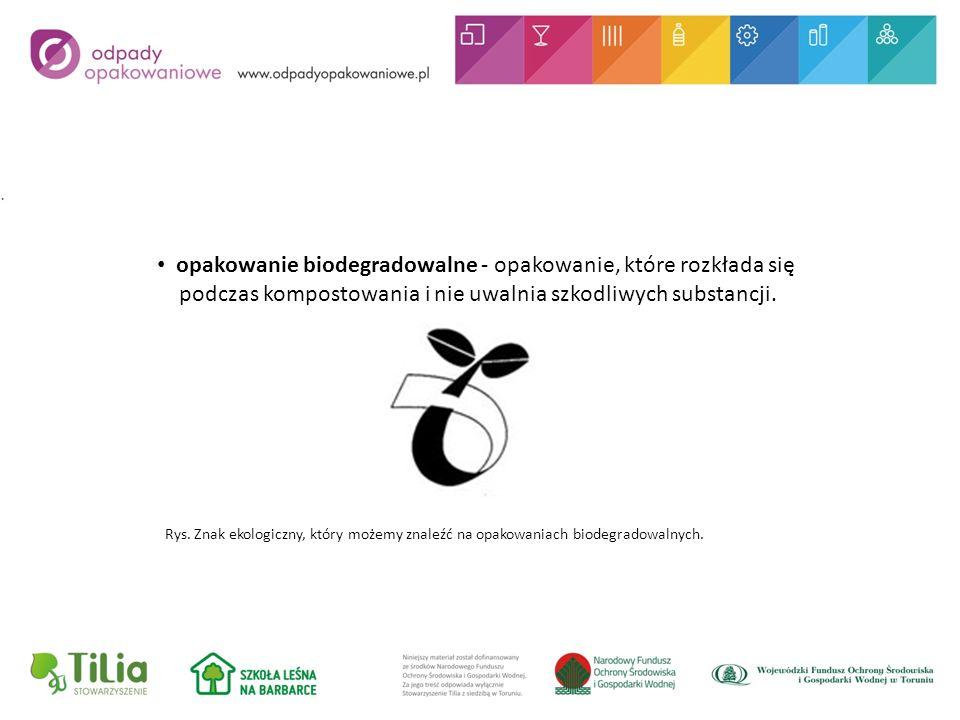 opakowanie biodegradowalne - opakowanie, które rozkłada się