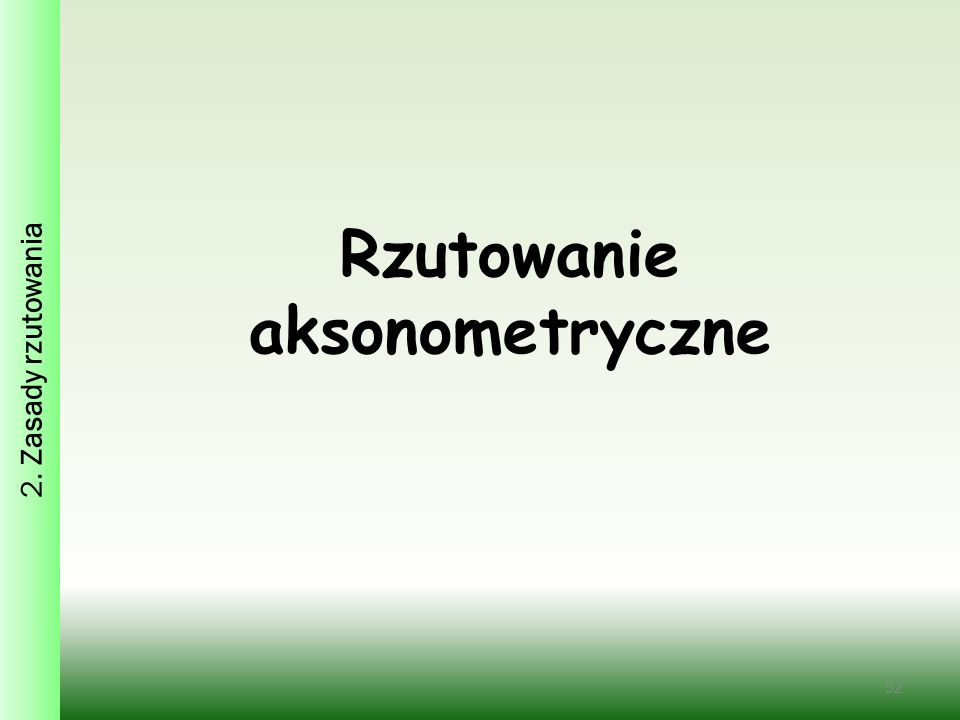 Rzutowanie aksonometryczne