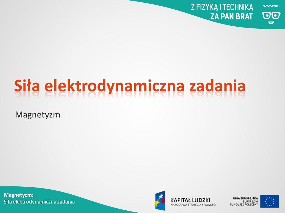 Siła elektrodynamiczna zadania