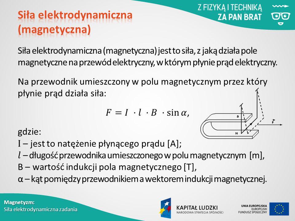 Siła elektrodynamiczna (magnetyczna)