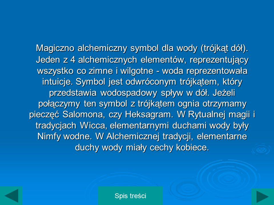 Magiczno alchemiczny symbol dla wody (trójkąt dół)