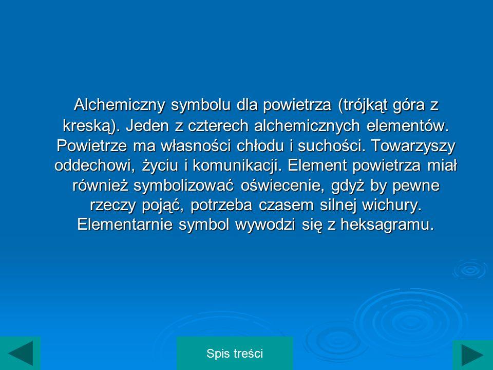 Alchemiczny symbolu dla powietrza (trójkąt góra z kreską)