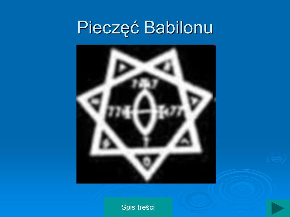 Pieczęć Babilonu Spis treści