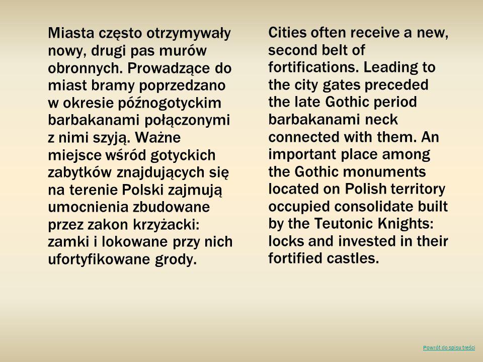 Miasta często otrzymywały nowy, drugi pas murów obronnych