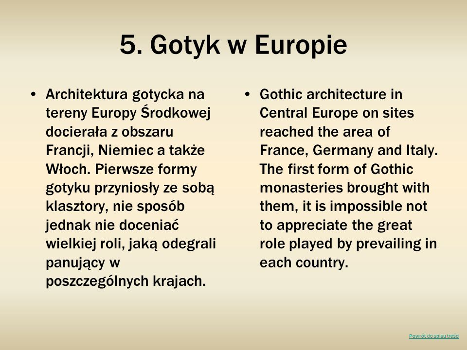 5. Gotyk w Europie