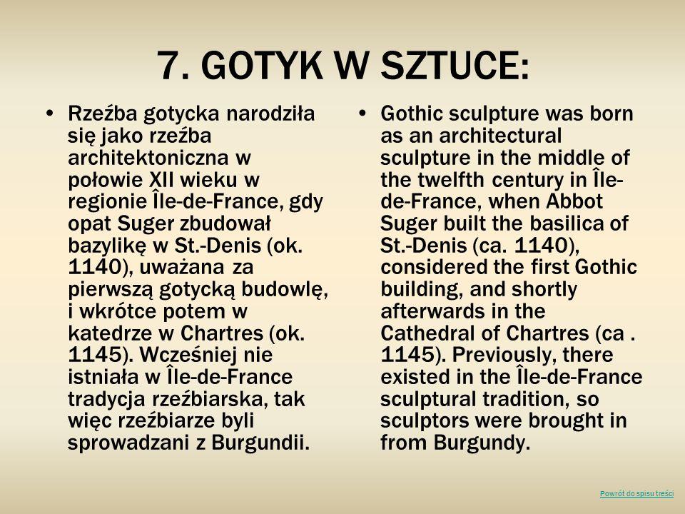 7. GOTYK W SZTUCE: