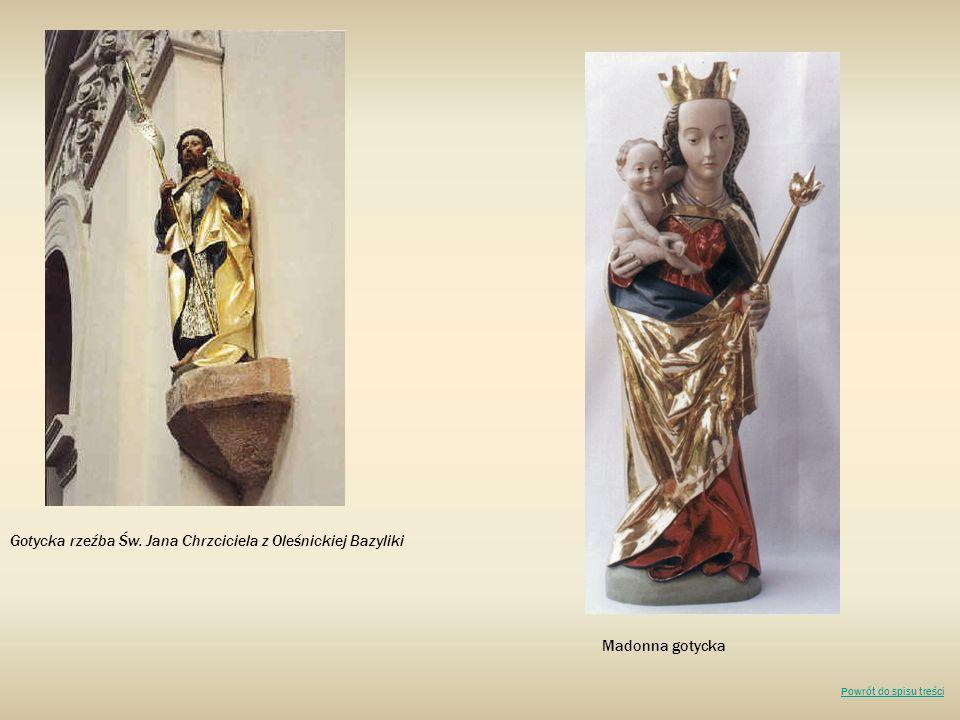 Gotycka rzeźba Św. Jana Chrzciciela z Oleśnickiej Bazyliki