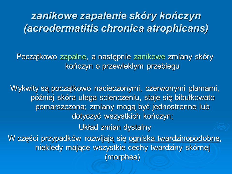 zanikowe zapalenie skóry kończyn (acrodermatitis chronica atrophicans)