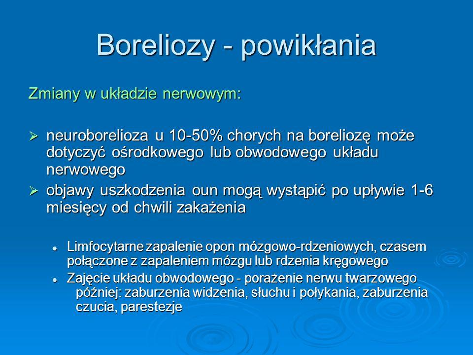 Boreliozy - powikłania