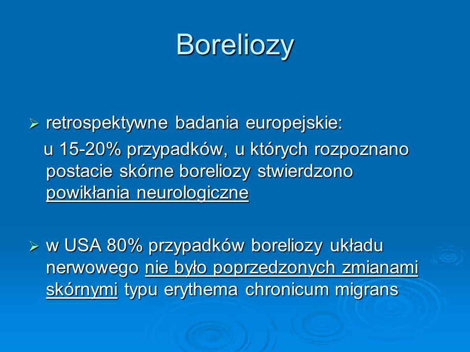 Boreliozy retrospektywne badania europejskie: