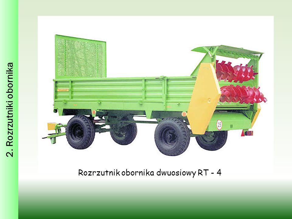 2. Rozrzutniki obornika Rozrzutnik obornika dwuosiowy RT - 4
