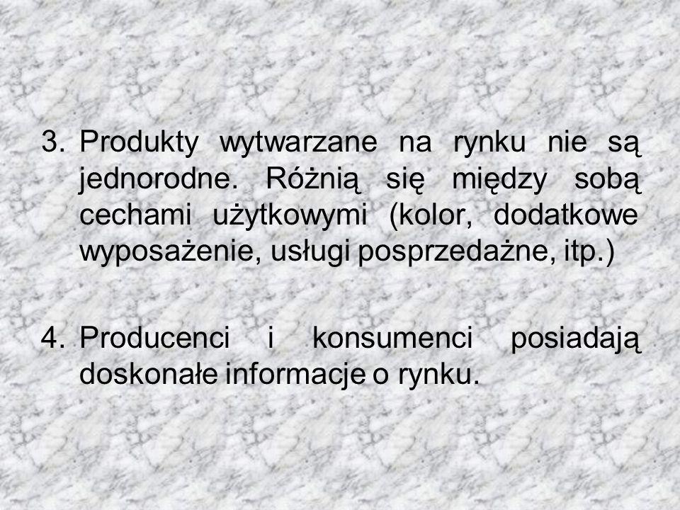 Produkty wytwarzane na rynku nie są jednorodne