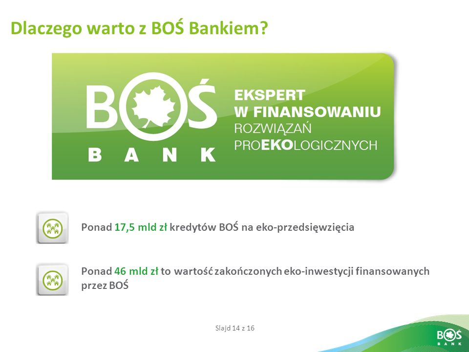 Dlaczego warto z BOŚ Bankiem