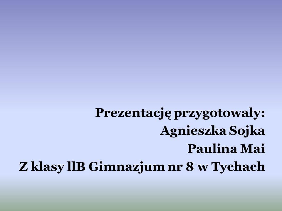 Prezentację przygotowały: Agnieszka Sojka Paulina Mai Z klasy llB Gimnazjum nr 8 w Tychach