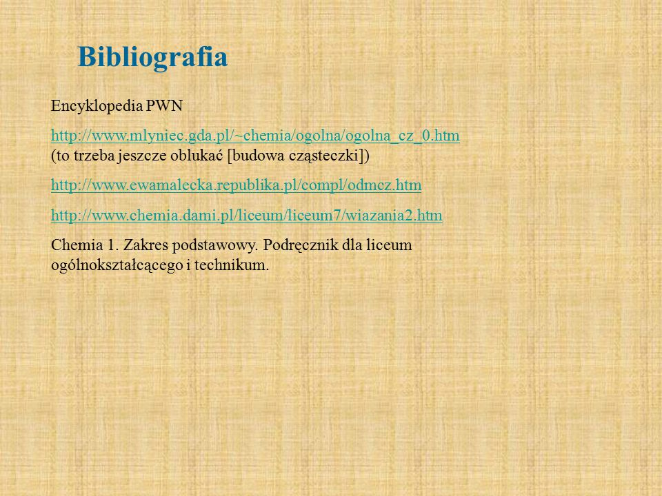 Bibliografia Encyklopedia PWN