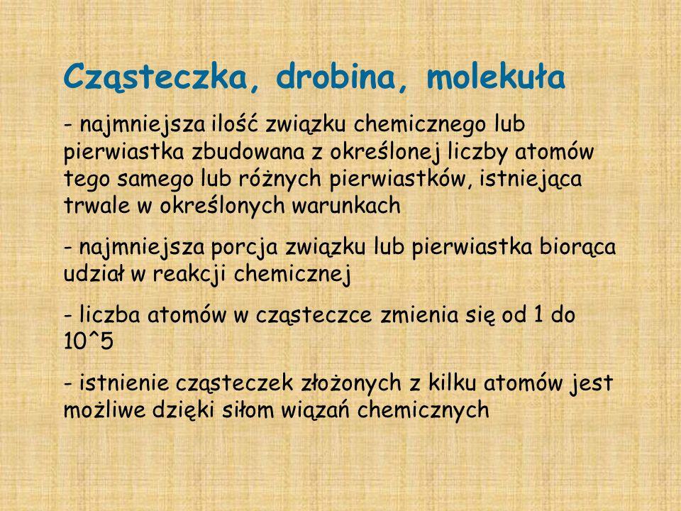 Cząsteczka, drobina, molekuła