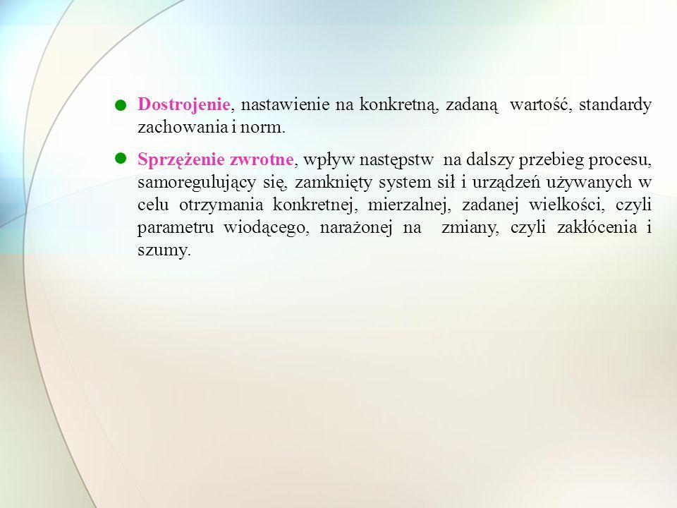 Dostrojenie, nastawienie na konkretną, zadaną wartość, standardy zachowania i norm.