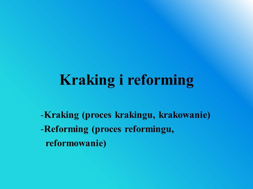 Kraking i reforming Kraking (proces krakingu, krakowanie)