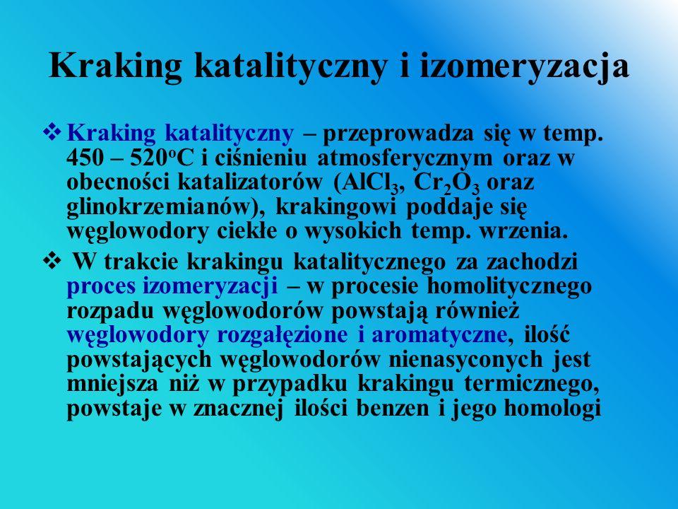 Kraking katalityczny i izomeryzacja