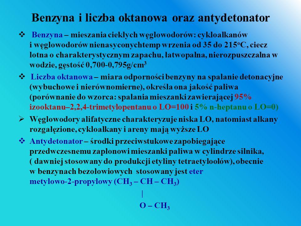 Benzyna i liczba oktanowa oraz antydetonator