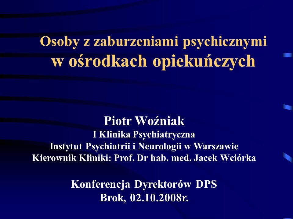Osoby z zaburzeniami psychicznymi w ośrodkach opiekuńczych