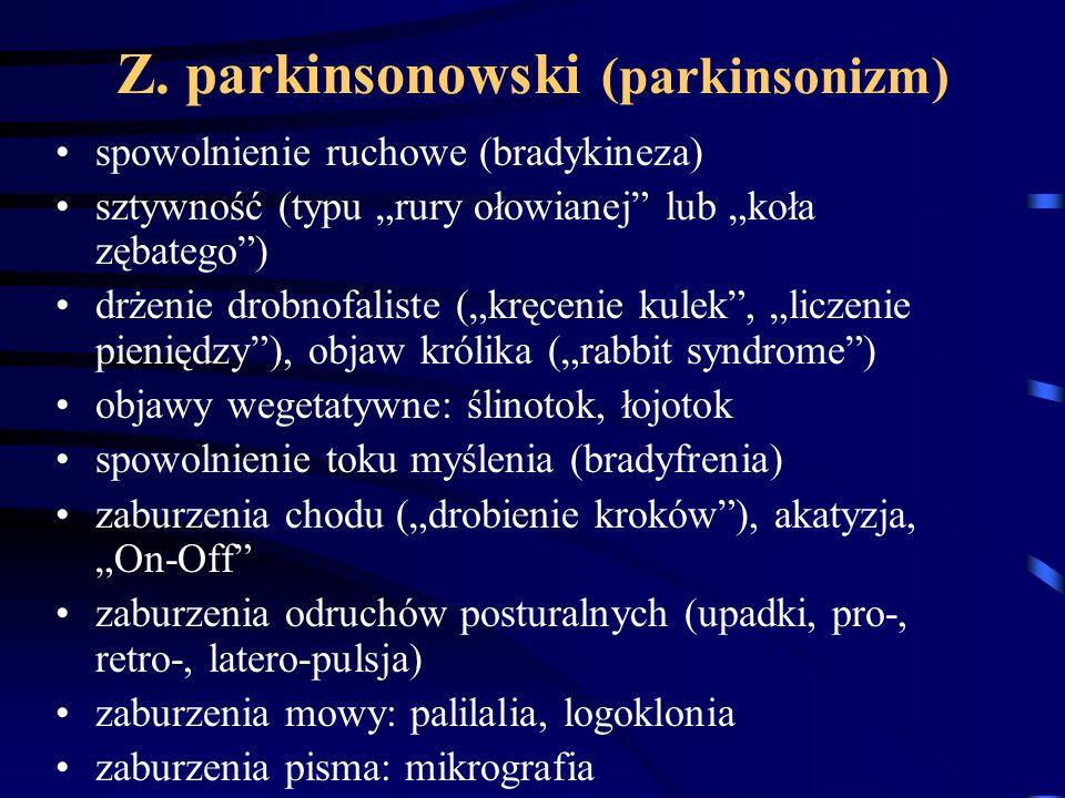 Z. parkinsonowski (parkinsonizm)